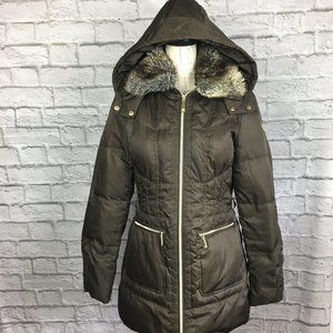 Vince Camuto Brown Down Filled Winter Coat Size M